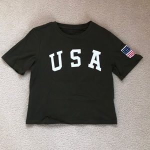 Tops - Cropped USA tee